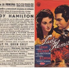 Cine: LADY HAMILTON. Lote 58427898