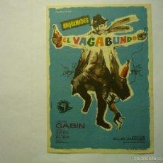 Cine: PROGRAMA ARQUIMEDES EL VAGABUNDO .- JEAN GABIN -PUBLICIDAD. Lote 58446641