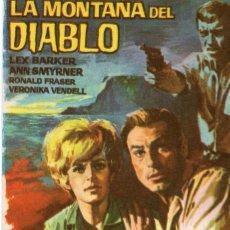 Flyers Publicitaires de films Anciens: FOLLETO DE MANO, LA MONTAÑA DEL DIABLO, LEX BARKER.. Lote 58497280