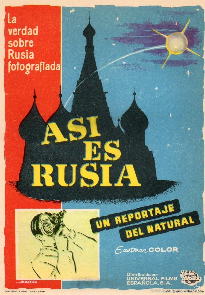 FOLLETO DE MANO, ASI ES RUSIA. (Cine - Folletos de Mano - Documentales)
