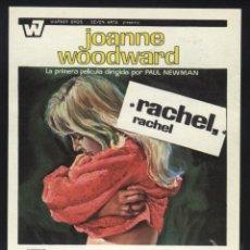 Cine: P-0674- RACHEL, RACHEL (RAQUEL, RAQUEL) JOANNE WOODWARD - JAMES OLSON - KATE HARRINGTON). Lote 157012329