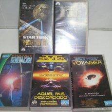 Cine: STAR TREK GENERACION - AQUEL PAIS DESCONOCIDO - VOYAGER - PRIMER CONTACTO - DOS MUNDOS - VHS. Lote 58511503