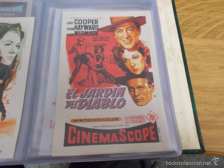 EL JARDIN DEL DIABLO. GARY COOPER, SUSAN HAYWARD, RICHARD WIDMARK - SOLIGÓ CON PUBLICIDAD (Cine - Folletos de Mano - Westerns)