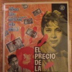 Foglietti di film di film antichi di cinema: EL PRECIO DE LA SANGRE. Lote 58552436