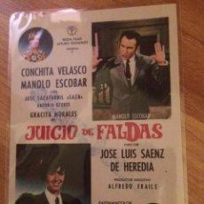Cine: JUICIO DE FALDAS - MANOLO ESCOBAR. Lote 58562112