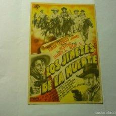 Cine: PROGRAMA LOS JINETES DE LA MUERTE-BUCK JONES. Lote 176647658