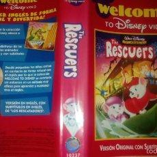 Cine: DISNEY VIDEO THE RESCUERS. ANTIGUA CARATULA DE PELICULA VHS. Lote 58642153