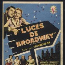 Cine: P-6541- LUCES DE BROADWAY (TWO TICKETS TO BROADWAY) (GRAN CINEMA COCA - VALLADOLID) (TONY MARTIN). Lote 58685523