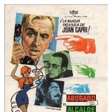 Foglietti di film di film antichi di cinema: FOLLETO DE MANO, EL ABOGADO EL ALCALDE Y EL NOTARIO, JOAN CAPRI.. Lote 58707633