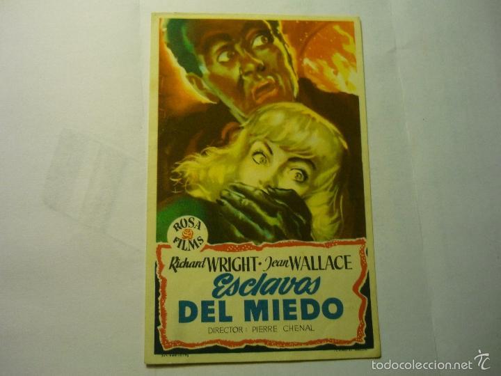 PROGRAMA ESCLAVOS DEL MIEDO-JEAN WALLACE (Cine - Folletos de Mano - Terror)