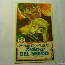 Cine: PROGRAMA ESCLAVOS DEL MIEDO-JEAN WALLACE. Lote 58744451