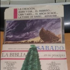 Cine: PROGRAMA DE CINE LA BIBLIA DE DINO DE LAURENTIS . Lote 58889626