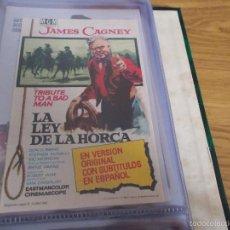 Cine: LA LEY DE LA HORCA. JAMES CAGNEY IRENE PAPAS- CON PUBLICIDAD. Lote 59028885