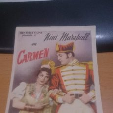 Cine: PROGRAMA DE CINE CARMEN . Lote 59145315