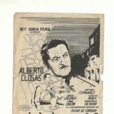 Cine: DISTRITO QUINTO ALBERTO CLOSAS. Lote 59162045