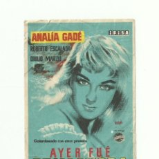 Cine: AYER FUE PRIMAVERA -ANALIA GADE. Lote 59162565