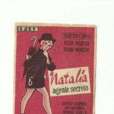 Cine: NATALIA AGENTE SECRETO. Lote 59162740