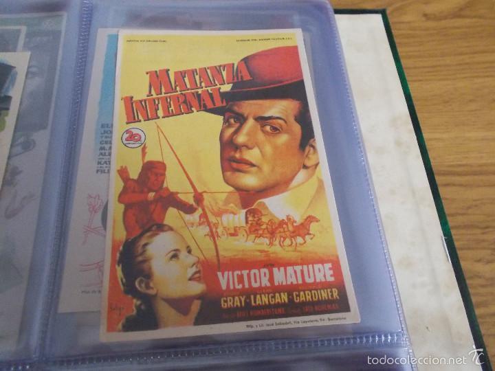 MATANZA INFERNAL. SOLIGÓ (VICTOR MATURE - COLEEN GRAY - GLENN LANGAN - REGINALD GARD CON PUBLICIDAD (Cine - Folletos de Mano - Westerns)