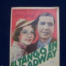 Cine: EL TANGO EN BROADWAY. CARLOS GARDEL.. Lote 59568171