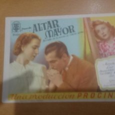 Cine: PROGRAMA DE CINE ALTAR MAYOR . Lote 59511300