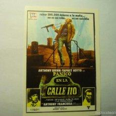 Cine: PROGRAMA MODERNO PANICO EN LA CALLE 110- ANTHONY QUINN. Lote 59744492