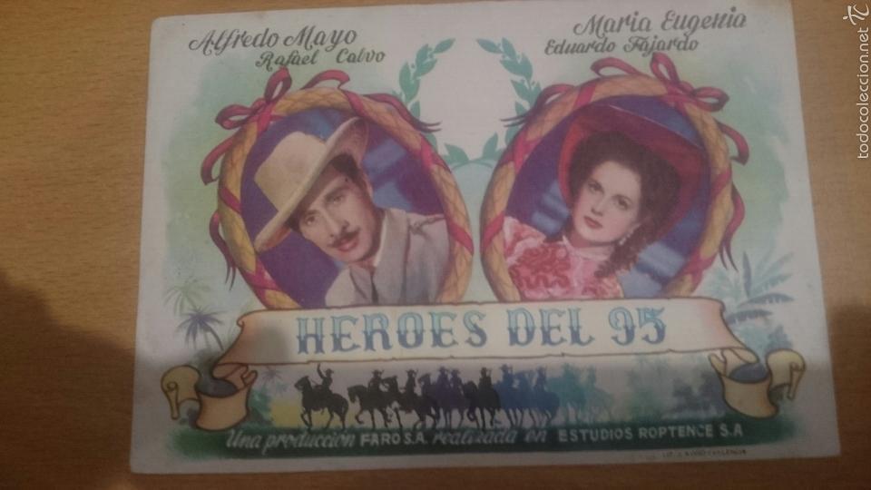 PROGRAMA DE CINE HEROES DEL 95 (Cine - Folletos de Mano - Clásico Español)