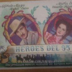 Cine: PROGRAMA DE CINE HEROES DEL 95. Lote 59511219