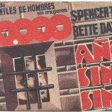 Cine: 20000 AÑOS EN SING SING PROGRAMA DOBLE TROQUELADO WARNER SPENCER TRACY BETTE DAVIS. Lote 59849492