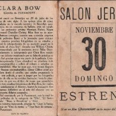 Cine: LLEGÓ LA ESCUADRA - PROGRAMA DESPLEGABLE CON PUBLICIDAD , RF-919, AÑOS 30. Lote 59881607