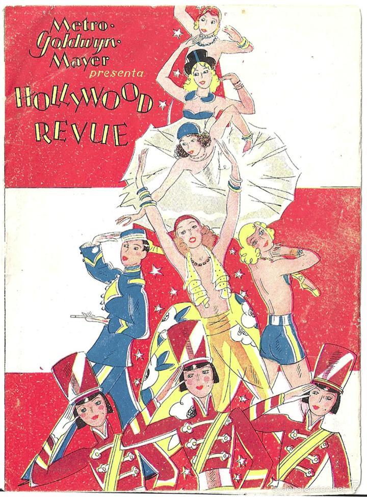HOLLYWOOD REVUE PROGRAMA LIBRITO METRO STAN LAUREL OLIVER HARDY BUSTER KEATON GILBERT NORMA SHEARER (Cine - Folletos de Mano - Musicales)
