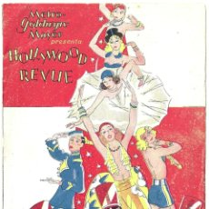 Cine: HOLLYWOOD REVUE PROGRAMA LIBRITO METRO STAN LAUREL OLIVER HARDY BUSTER KEATON GILBERT NORMA SHEARER. Lote 59892359