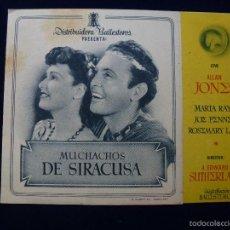 Cine: MUCHACHOS DE SIRACUSA. Lote 59894455