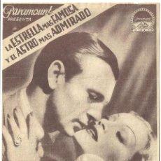 Cine: DESEO PROGRAMA SENCILLO PARAMOUNT GARY COOPER MARLENE DIETRICH RARO. Lote 59906847