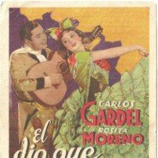 Cinema - EL DIA QUE ME QUIERAS PROGRAMA TARJETA PARAMOUNT CARLOS GARDEL ROSITA MORENO - 59911551