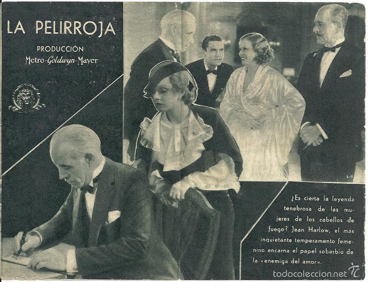 Cine: LA PELIRROJA PROGRAMA DOBLE MGM JEAN HARLOW CHESTER MORRIS - Foto 2 - 59913903