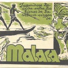 Cine: MALACA PROGRAMA TARJETA CIFESA CINE DOCUMENTAL. Lote 59919455