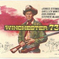 Cine: WINCHESTER 73 PROGRAMA SENCILLO DELTA JAMES STEWART SHELLEY WINTERS ANTHONY MANN. Lote 59923287