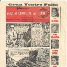 Cine: VIAJE AL CENTRO DE LA TIERRA PROGRAMA SENCILLO AUCA COMIC FILMAX JAMES MASON JULIO VERNE. Lote 59926167