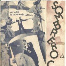 Cine: SOMBRERO DE COPA PROGRAMA DOBLE RKO GRANDE FRED ASTAIRE GINGER ROGERS. Lote 59981891