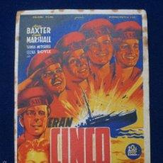 Cine: ERAN CINCO HERMANOS. CON PUBLICIDAD. SOLIGÓ. Lote 60039883