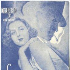 Cine: D LA AMENAZA PUBLICA PROGRAMA DOBLE COLUMBIA JEAN ARTHUR GEORGE MURPHY. Lote 60054771