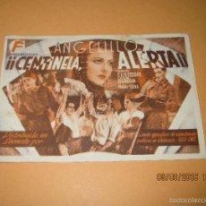Cine: ANTIGUO PROGRAMA DE CINE TARJETA * CENTINELA ALERTA * CON ANGELILLO EN CINE IDEAL DE IBI - AÑO 1937. Lote 60057495