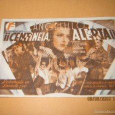 Cine: PROGRAMA DE CINE TARJETA * CENTINELA ALERTA * CON ANGELILLO EN CENTRAL C.N.T. Y U.G.T. - AÑO 1930S.. Lote 60059715