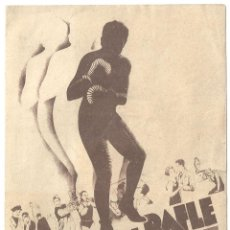 Folhetos de mão de filmes antigos de cinema: D UN SOIR DE RAFLE PROGRAMA DOBLE FRANCES FILMS OSSO ANNABELLA LUCIEN BAROUX BOXEO. Lote 60069227