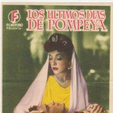 Cine: LOS ÚLTIMOS DÍAS DE POMPEYA. SENCILLO DE FILMÓFONO.. Lote 60080895