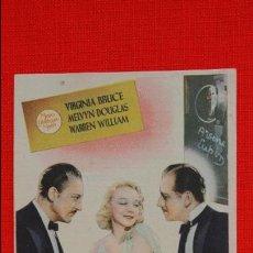 Cine: LA VUELTA DE ARSENIO LUPIN, SENCILLO 1943, VIRGINA BRUCE M. DOUGLAS, EXCELENTE ESTADO CON PUBLICIDAD. Lote 60187071