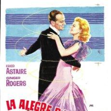 Cine: LA ALEGRE DIVORCIADA FRED ASTAIRE GINGER ROGERS PROGRAMA PRUEBA DE IMPRENTA DEL CARTEL. Lote 60274675