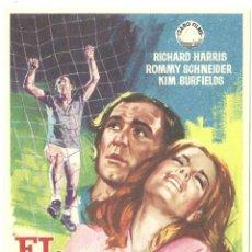 Cine: EL IDOLO CAIDO PROGRAMA SENCILLO IZARO FUTBOL ROMY SCHNEIDER RICHARD HARRIS. Lote 60352551