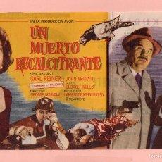 Cine: CINE UN MUERTO RECALCITRANTE CON GLENN FORD Y DEBBIE REYNOLDS DEL CINE KURSAAL DE REUS . Lote 60573531