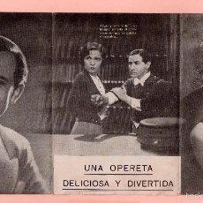 Cine: CINE UNA CANCIÓN UN BESO UNA MUJER CON MARTE EGGERTH GUSTAV FROHLICH SALÓN KURSAAL BARCELONA . Lote 60692663